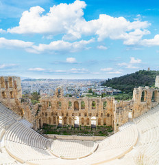 Wall Mural - cup of Herodes Atticus amphitheater of Acropolis, Athens, Greece