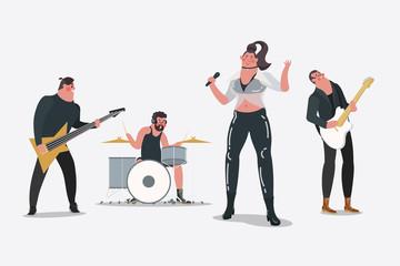 Cartoon character design illustration. Professional band