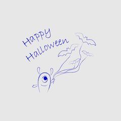 Cute monster for Halloween1