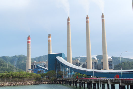 coal-fired power plant at Indonesia