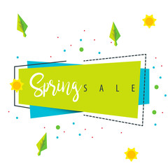Spring Sale Geometric Shape for Poster and Social Media Campaign