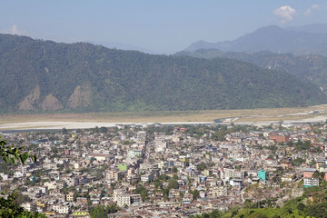 Phuntsholing and Jaigaon town view