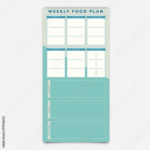 food planner template vector of food planner template fotolia com