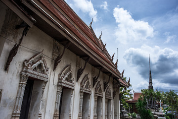 Wat Chak Daeng Temple at Samut Prakan Thailand