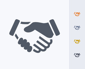 Handshake - Carbon Icons A professional, pixel-perfect icon  designed on a 32x32 pixel grid and redesigned on a 16x16 pixel grid for very small sizes.