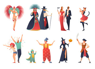 Carnival Party Icons Set