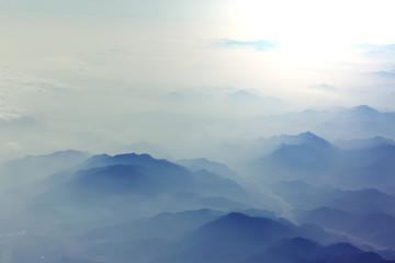 Fototapeten Gebirge Mountains silhouette