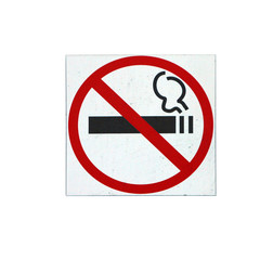 no smoling sign with strikeout black cigarette in red circle on white background isolated