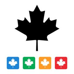 maple leaf canada flag icon