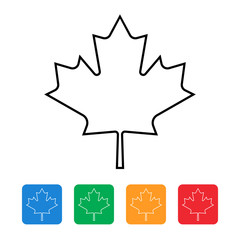 maple leaf canada flag icon
