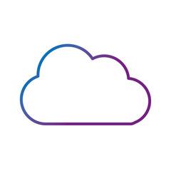 line nice cloud design over white background vector illustration