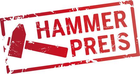 roter stempel Hammerpreis