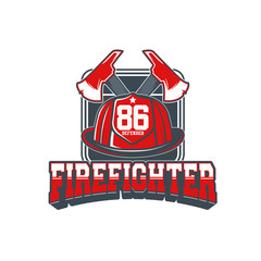 Firefighters vector emblem