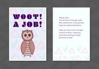 New Job Greeting Card Layout 8