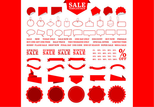 Sale Tag and Badge Icon Set 1