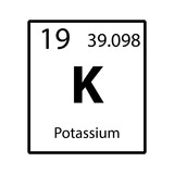 Potassium big on periodic table of the elements with atomic number potassium periodic table element color icon on white background vector urtaz Images