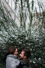 Happy Couple on the Snow