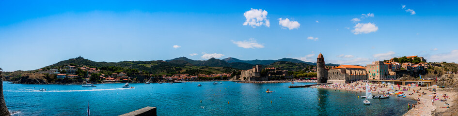 Panorama de Collioure depuis la digue