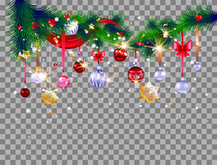 Decoration on transparent background