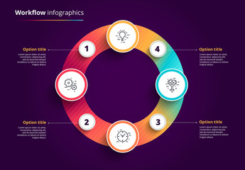 Colorful 4-Step Circular Infographic Layout 1