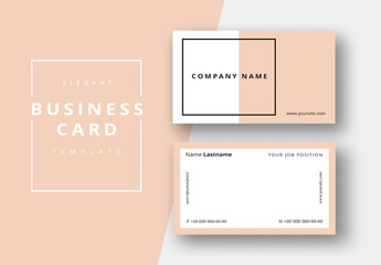 Two-Toned Business Card Layout