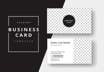 Polka-Dot Business Card Layout
