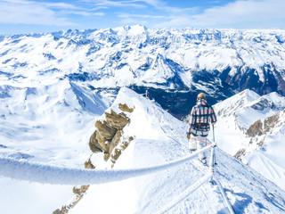 Österreich, Salzburg, Stubach, Aussicht vom Kitzsteinhorn-Gipfel Wall mural