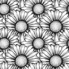Beautiful seamless pattern with flowers daisy. design for greeting cards and invitations of wedding, birthday, Valentine's Day, mother's day and other seasonal holiday