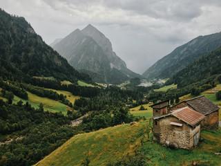 Swiss Alps - Rainy Afternoon in Camp Blenio (Ticino, Switzerland)