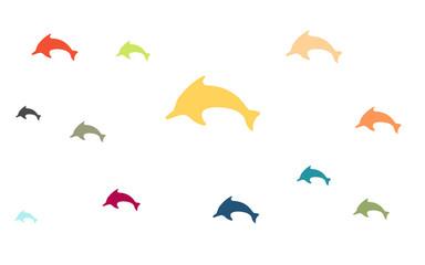 Wallpaper - bunte Delfine