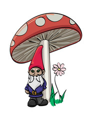 Gnome and Mushroom