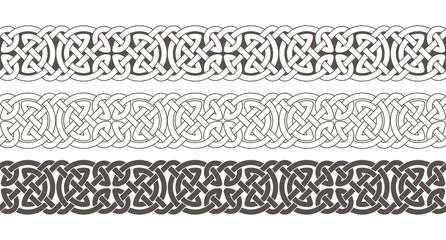 Celtic knot braided frame border ornament.