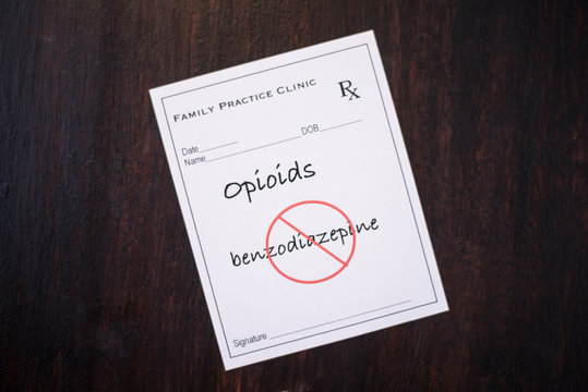 Opioid Prescription - no benzodiazepines