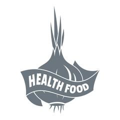 Health eco food logo, simple style