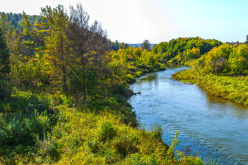 Gold river Suenga ( a tributary of the river Berd ). Siberia, Russia