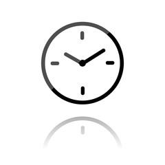 farbiges Symbol - Uhr