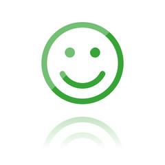 farbiges Symbol - Smiley