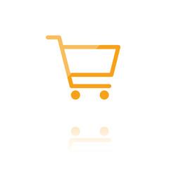 farbiges Symbol - Einkaufswagen