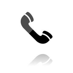 Reflektierendes Symbol mit Glanz - Telefonhörer