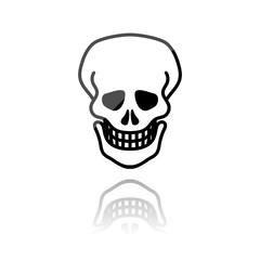 Reflektierendes Symbol mit Glanz - Totenkopf