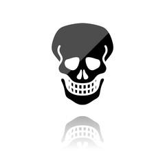 Reflektierendes Symbol mit Glanz - Gefahrenhinweis