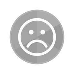 Kreis Icon - trauriges Gesicht