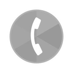 Kreis Icon - Telefonhörer