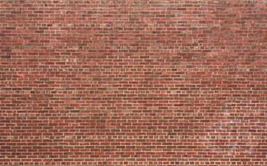Photo sur Aluminium Brick wall Red Brick Wall with Horizontal Pattern