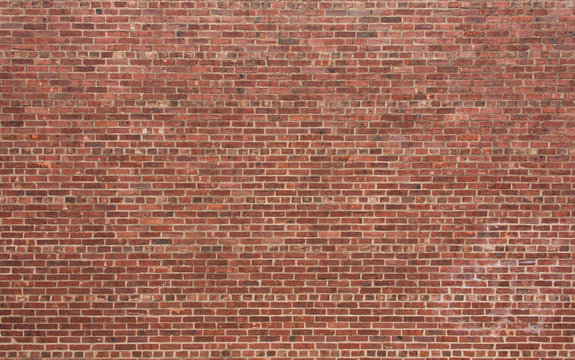 Red Brick Wall with Horizontal Pattern