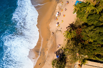 View from Top of Jabaquara Beach in Ilhabela, Brazil
