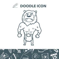 lion monster doodle