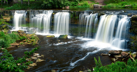 beautiful waterfalls in Keila-Joa, Estonia