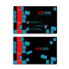 3D cube Business card