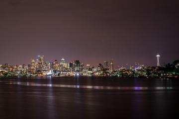 Foto auf Leinwand Stadtgebaude Seattle Skyline